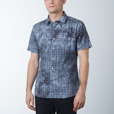 Ladder Short Sleeve Shirt // Gray (S)