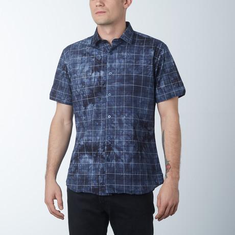 Linear Short Sleeve Shirt // D Gray (S)