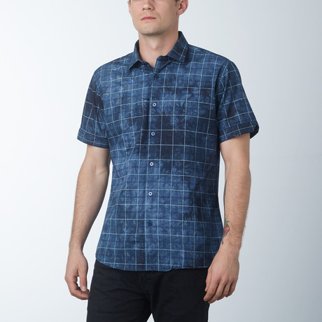 Linear Short Sleeve Shirt // Teal (S)