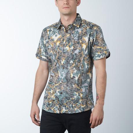 Ornate Short Sleeve Shirt // Coffee (S)