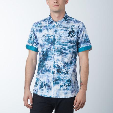 Warning 2 Short Sleeve Shirt // Turquoise (S)