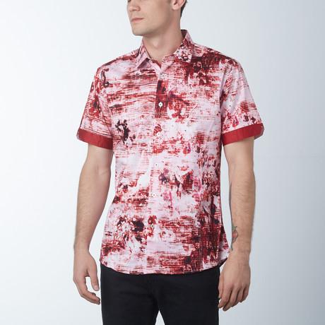 Warning 2 Short Sleeve Shirt // Wine (S)
