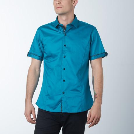 Silk 2 Short Sleeve Shirt // Teal (S)