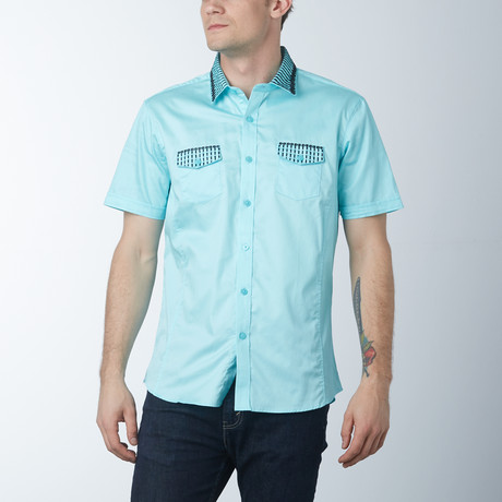 Guava Short Sleeve Shirt // Teal