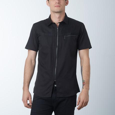 The Barber Short Sleeve Shirt // Black (S)