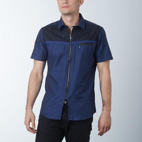 The Barber Short Sleeve Shirt // Navy (S)