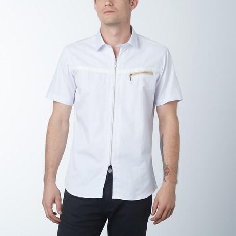 The Barber Short Sleeve Shirt // White (S)
