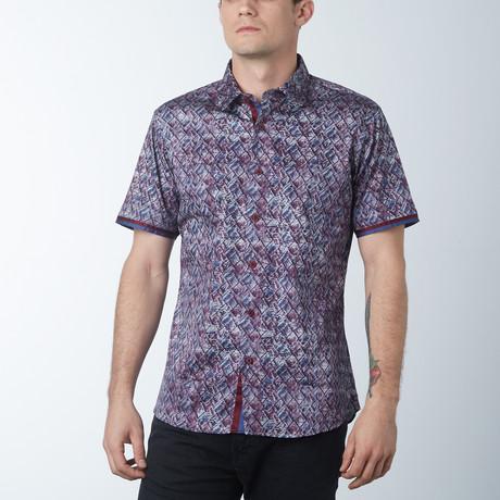Grove Short Sleeve Shirt // Wine (S)