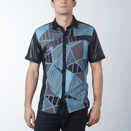 Shards Short Sleeve Shirt // Blue (S)