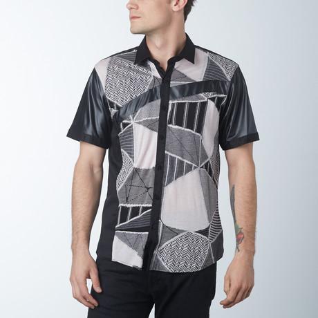 Shards Short Sleeve Shirt // Tan (S)