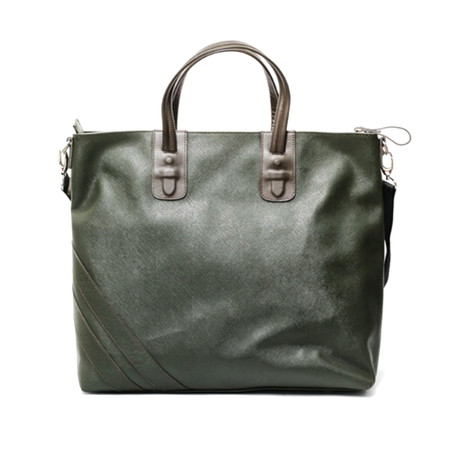 Terrance Zippered Tote // Military