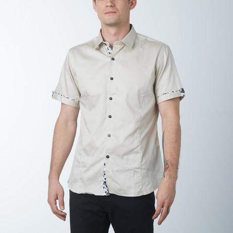 Silk 2 Short Sleeve Shirt // Bone (S)