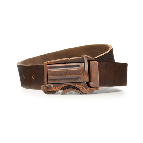 Rustic Outlaw Belt // Brown (Size 32)