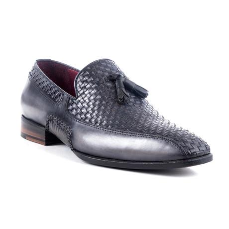 Premium Woven Tassel Loafer // Grey (Euro: 40)