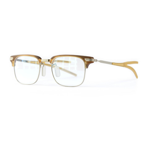 Byrd Frame // Matte Pale Chestnut + White Gold