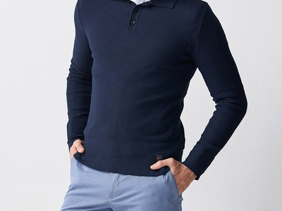 Photo of CLEARANCE: Outerwear We've Got You Covered Tricot Jumper // Dark Blue (2XL) by Touch Of Modern