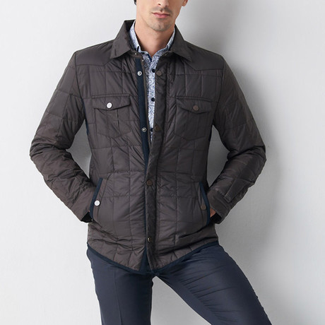 Quilted Mont Jacket // Black + Navy