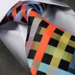 Simone Silk Tie // Multicolor Check