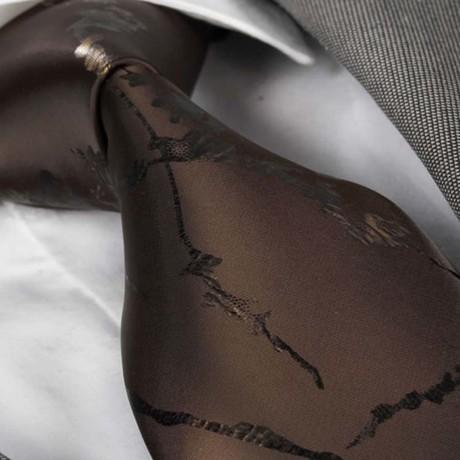 Manuel Tie // Chocolate Brown Paisley