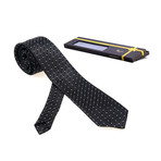 Tomaaso Silk Tie // Black Lines