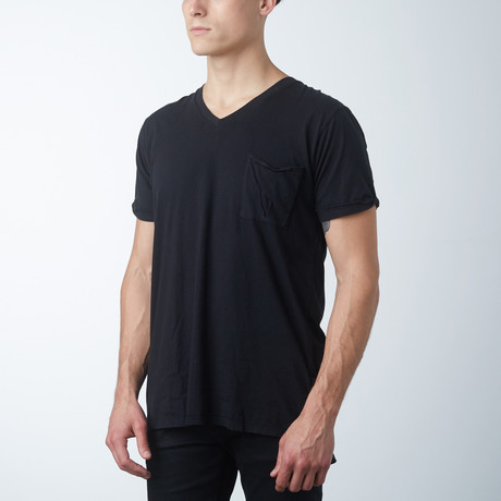Side Placket Tee // Black (XS)