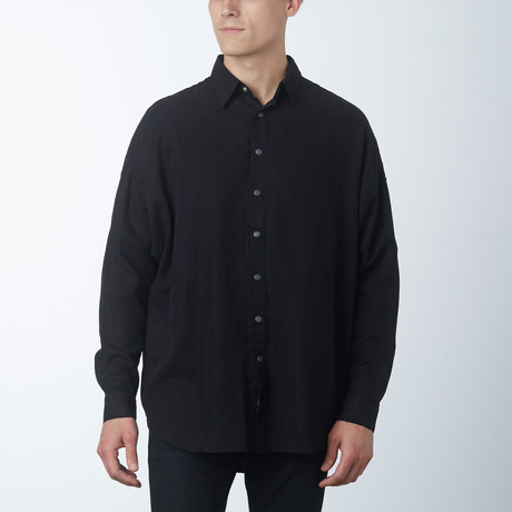 Tencel Parson Box Shirt // Black (XS)