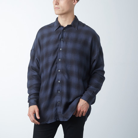 Plaid Parson Box Shirt // Azurite (XS)
