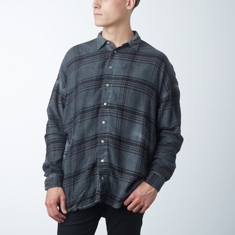 Plaid Parson Box Shirt // Slate (XS)