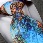 Amedeo Exclusive // Silk Tie // Blue Parrot Paisley