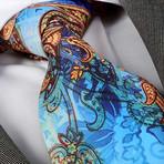 Giorgio Silk Tie // Blue Parrot Paisley