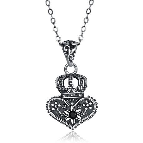 Crown Shaped Pendant Necklace