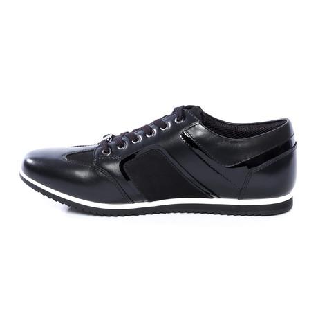 Preston Leather Sneakers // Black