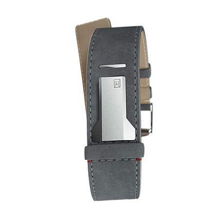 Klokers Quartz // KLINK-04-LC11 // Mouse Gray Alcantara Straight Strap