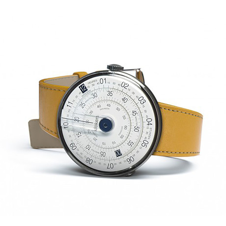 Klokers Quartz // KLOK-01-D4 Blue // Yellow Simple Strap