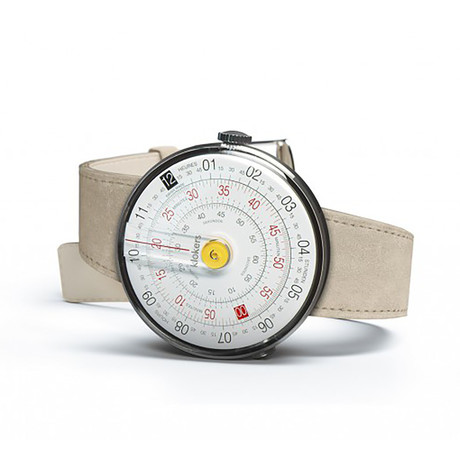 Klokers Quartz // KLOK-01-D1 Yellow // Gray Alcantara Simple Strap