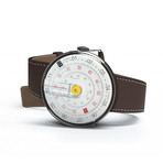 Klokers Quartz // KLOK-01-D1 Yellow // Chocolate Brown Simple Strap