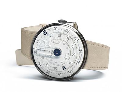 Photo of Klokers Rotating Swiss Watches Klokers Quartz // KLOK-01-D4 Blue // Gray Alcantara Simple Strap by Touch Of Modern