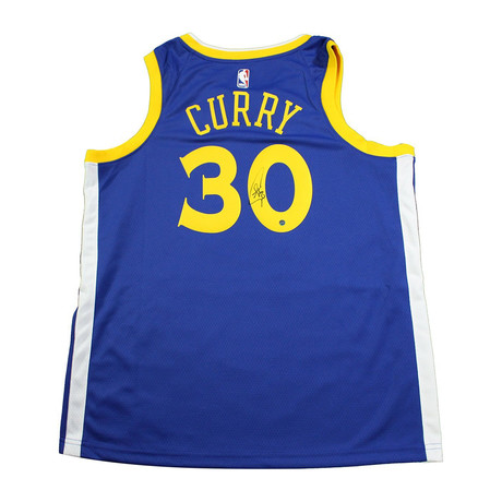 Signed Golden State Warriors Jersey // Stephen Curry