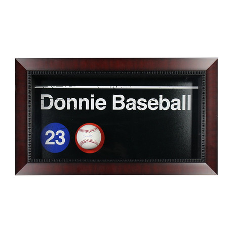 Don Mattingly Subway Sign + Signed Baseball