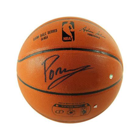 Signed Basketball // Kristaps Porzingis