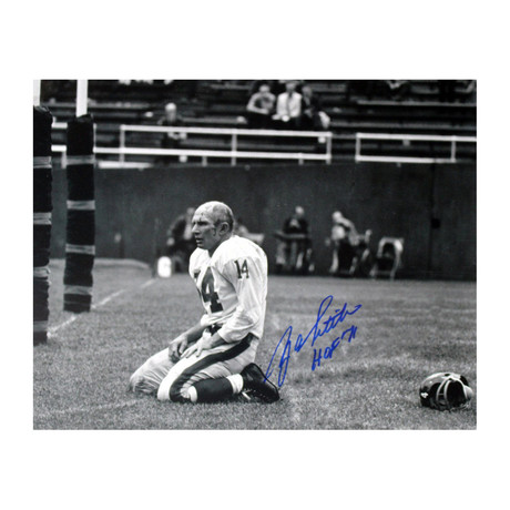 Y.A. Tittle Signed Agony of Defeat Blood Photo