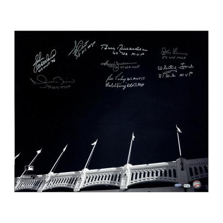 Signed Yankee Stadium Facades Photo // Yankees World Series MVPs