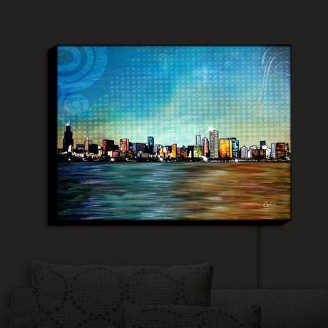 Illuminated Wall Art // Corina Bakke // Chicago Skyline