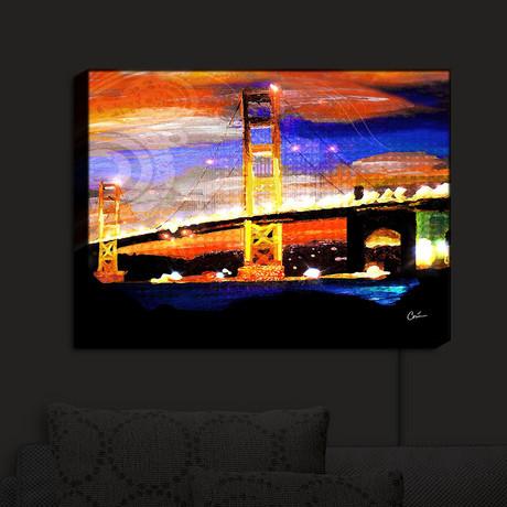Illuminated Wall Art // Corina Bakke // Golden Gates SF (20\