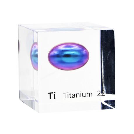 Lucite Cube // Titanium