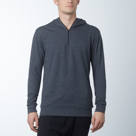 Westend Hooded Quarter Zip Pullover // Charcoal