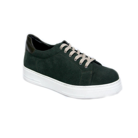 Reprise // Suede Laced Slip On Sneaker // Green (Euro: 40)