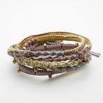 Jean Claude Jewelry // Brass + Cotton Handwave // Multicolor