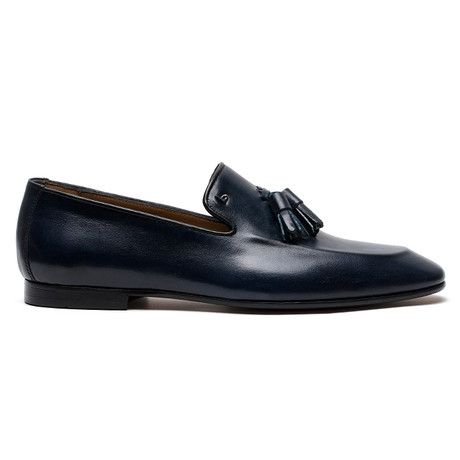 Arlo Analin Leather Shoes // Navy