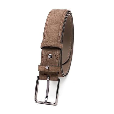 Summer Kroko Nubuck Belt // Brown